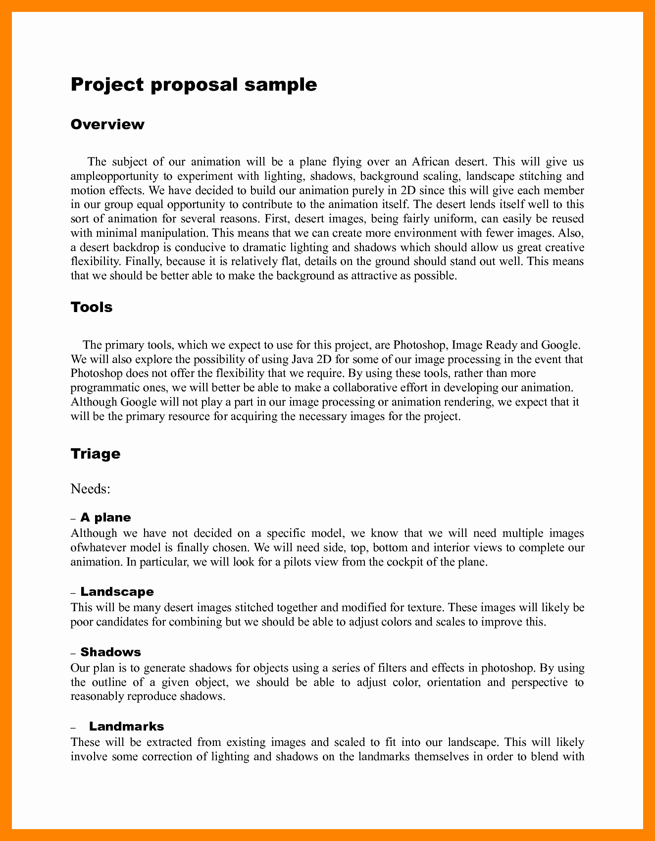 Simple Project Proposal Template Awesome Simple Project Proposal Example Template