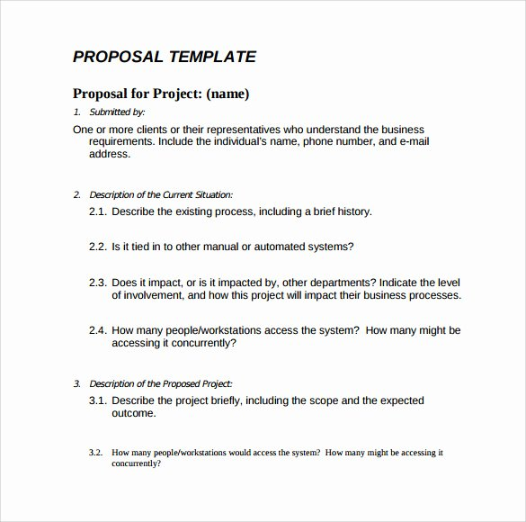 Simple Project Proposal Template Beautiful 16 Proposal Samples
