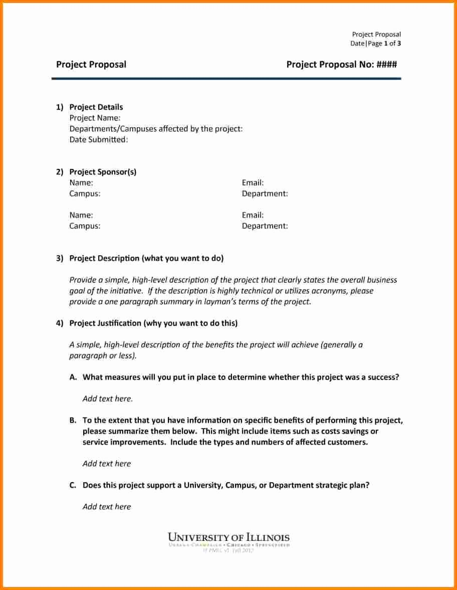 Simple Project Proposal Template Best Of 5 Professional Proposal