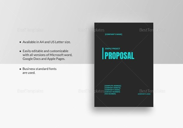 Simple Project Proposal Template Best Of Project Proposal Template 18 Free Word Pdf Psd