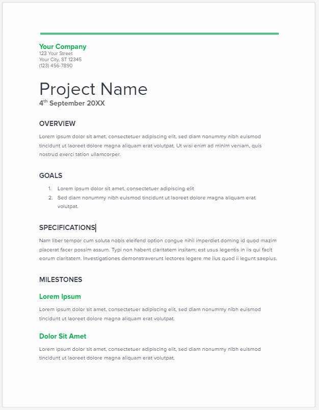 Simple Project Proposal Template Elegant Project Proposal Template