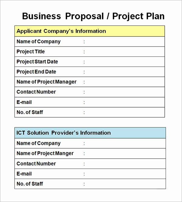 Simple Project Proposal Template Fresh 25 Free Business Proposal Templates
