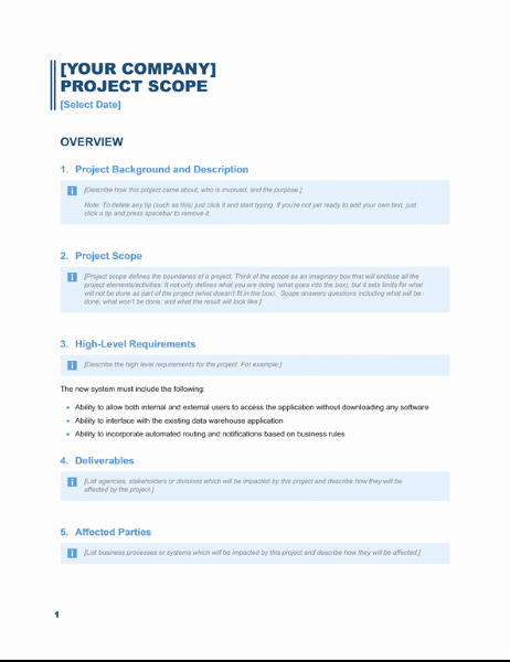 Simple Project Scope Template Best Of Business Plans Fice