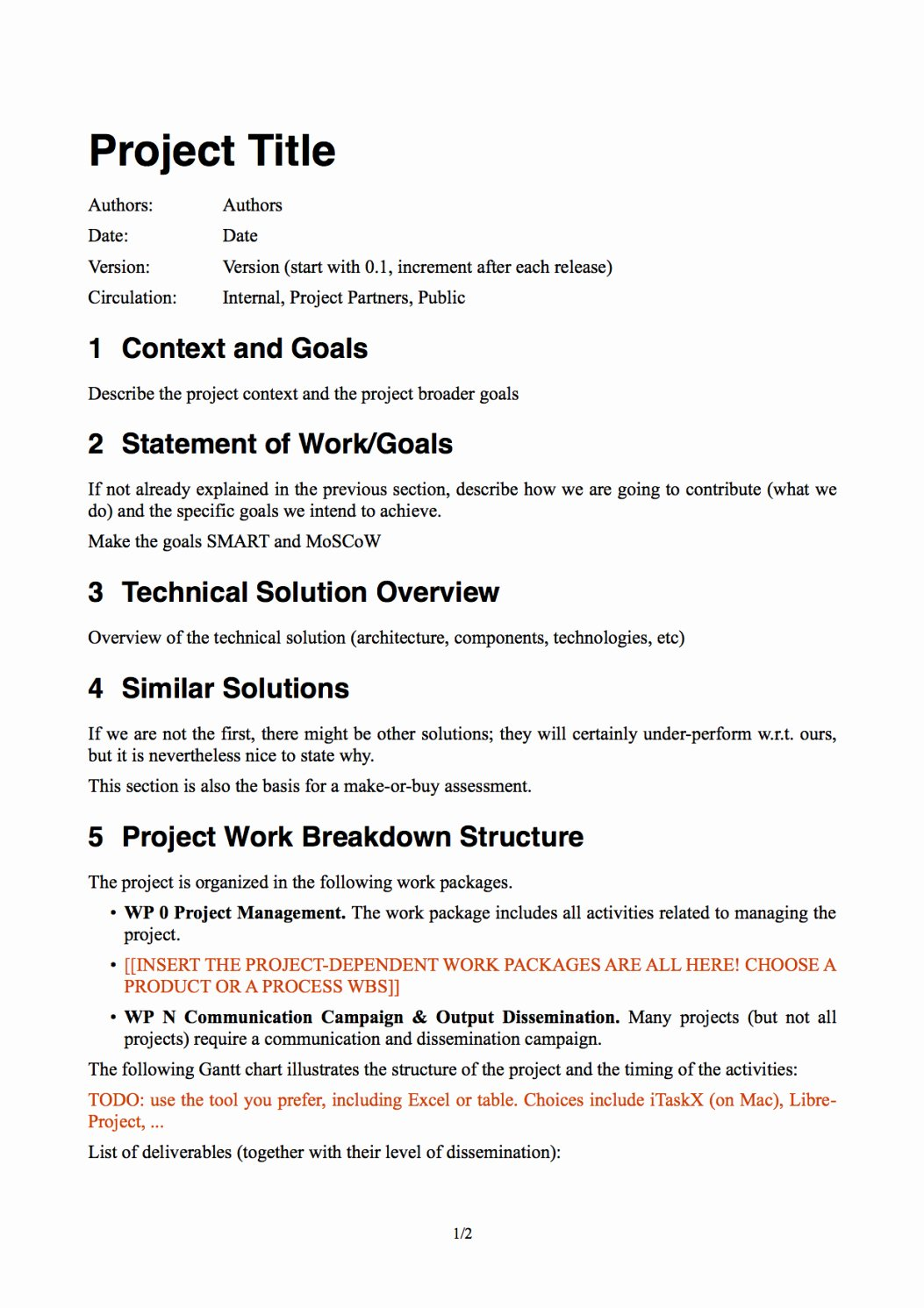 Simple Project Scope Template Lovely Simple Project Proposal Template Scope Work Proposal