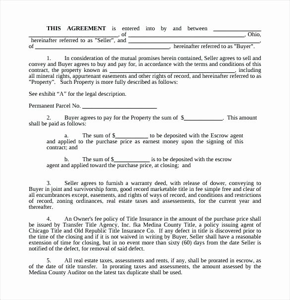 Simple Purchase Agreement Template Fresh Real Estate Purchase Contract Template Simple Buy Sell
