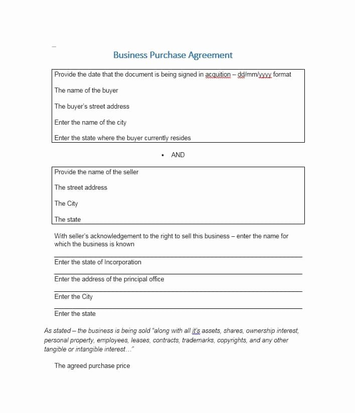 Simple Purchase Agreement Template Unique 37 Simple Purchase Agreement Templates [real Estate Business]