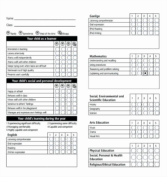 Simple Report Card Template Awesome Simple Report Card Template Relationship Best Sample