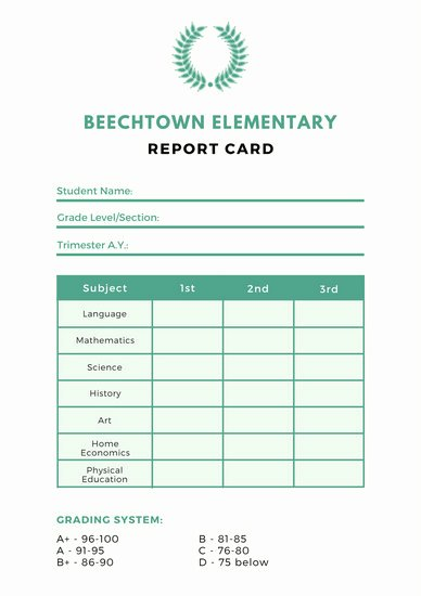 Simple Report Card Template Elegant Customize 10 018 Report Card Templates Online Canva