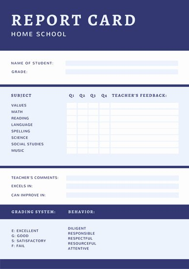Simple Report Card Template Fresh Customize 1 237 Report Templates Online Canva