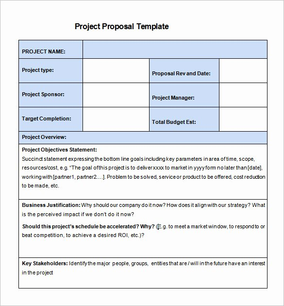 Simple Rfp Template Word Awesome 20 Free Project Proposal Template Ms Word Pdf Docx