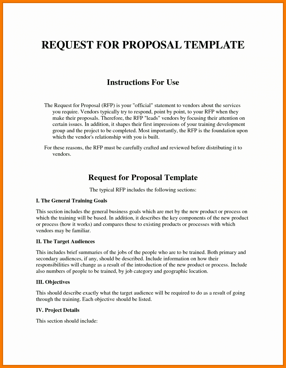 Simple Rfp Template Word Best Of Sample Rfp Response Template Information Technology Example