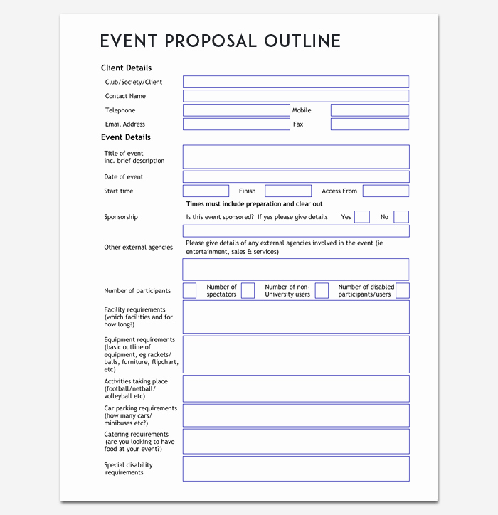 Simple Rfp Template Word Elegant event Outline Template 9 Samples & Examples for Pdf format