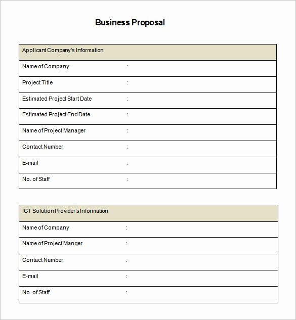 Simple Rfp Template Word Luxury 32 Business Proposal Templates Doc Pdf