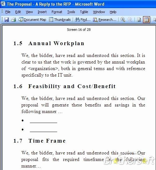 Simple Rfp Template Word Unique Rfp Template Free