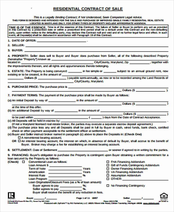 Simple Sales Agreement Template Best Of Simple Sales Contract Sample 10 Examples In Word Pdf