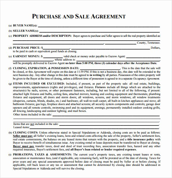Simple Sales Agreement Template Inspirational 8 Sample Real Estate Purchase Agreements