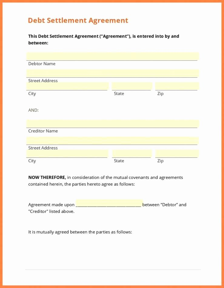 Simple Settlement Agreement Template Fresh Simple Settlement Agreement and Release Great Agreement