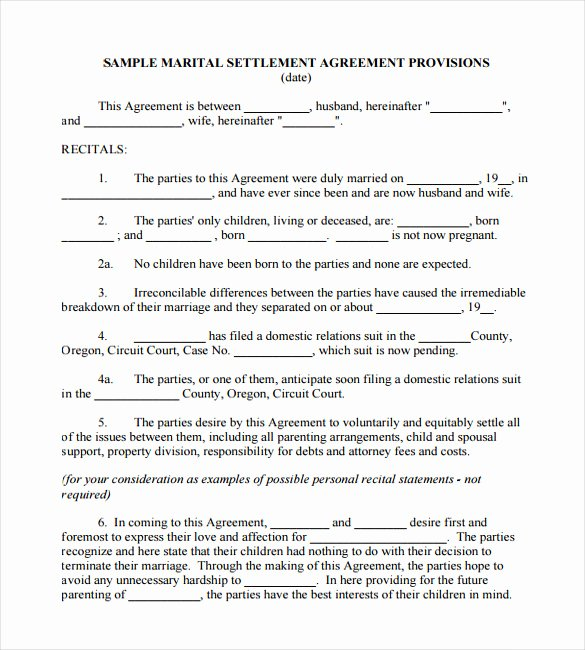 Simple Settlement Agreement Template Lovely Wedding Contract Template – 9 Free Word Pdf Documents