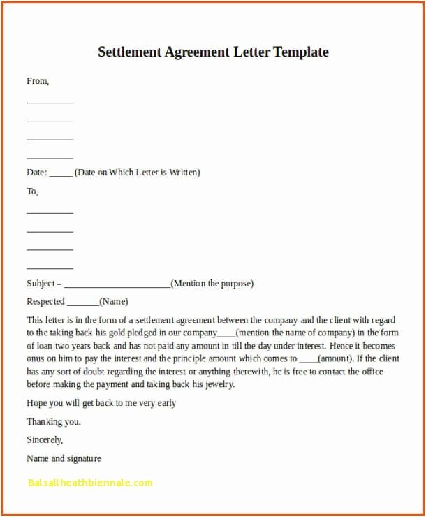 Simple Settlement Agreement Template Luxury Settlement Statement Template Simple Payment Agreement