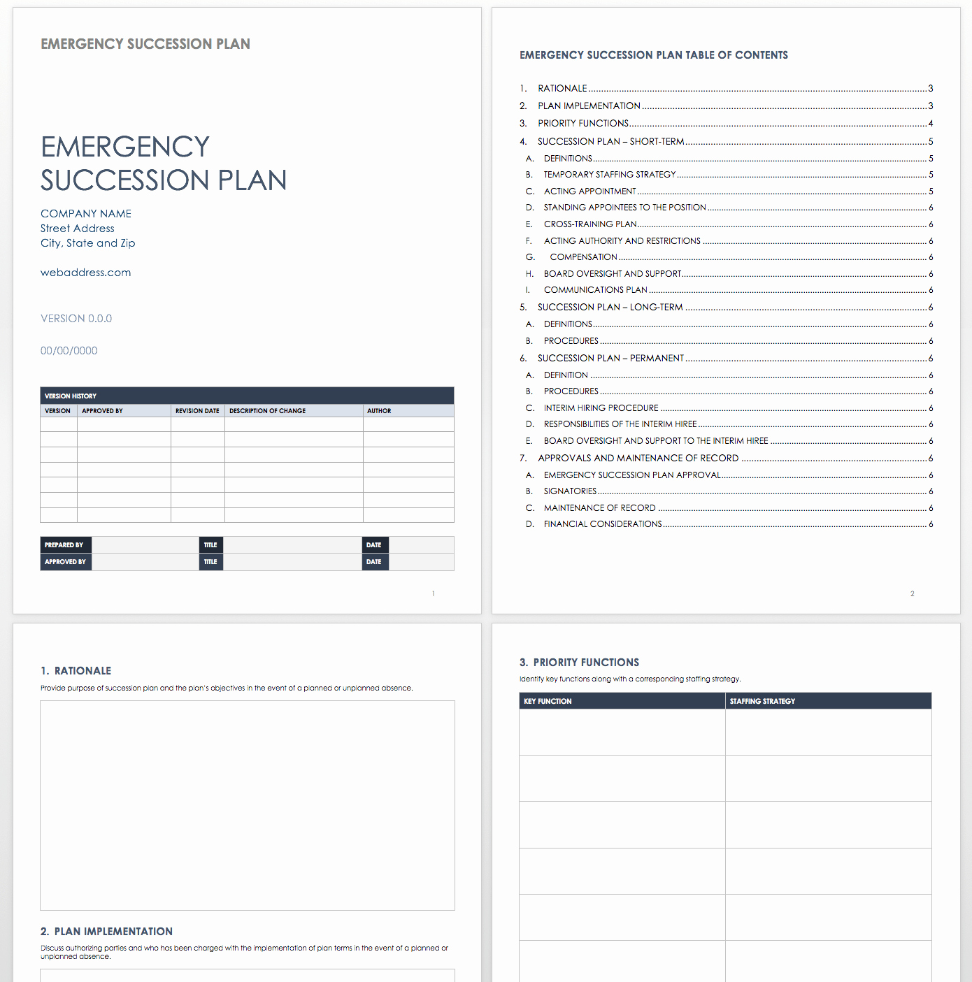 Simple Succession Plan Template New Free Succession Planning Templates