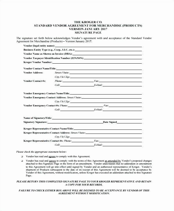 Simple Vendor Agreement Template Best Of Vendor Agreement Template Third Party Vendor Agreement