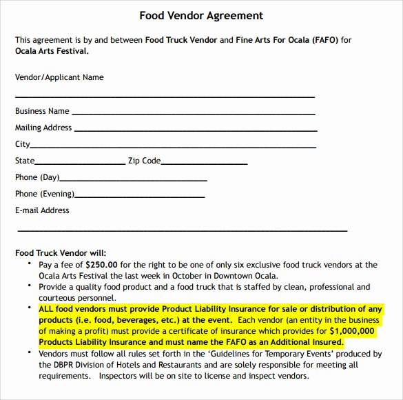 Simple Vendor Agreement Template Fresh 14 Vendor Contract Templates – Samples Examples & format