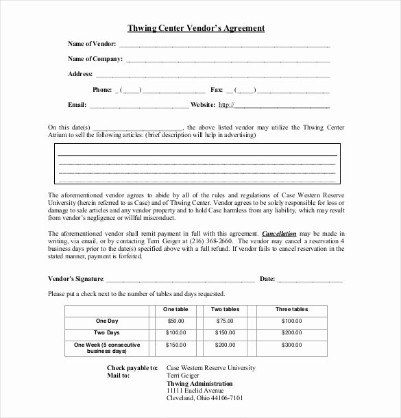 Simple Vendor Agreement Template Fresh 25 Sample Vendor Agreement Templates Pdf Doc