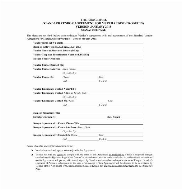 Simple Vendor Agreement Template Lovely Vendor Agreement Template – 26 Free Word Pdf Documents