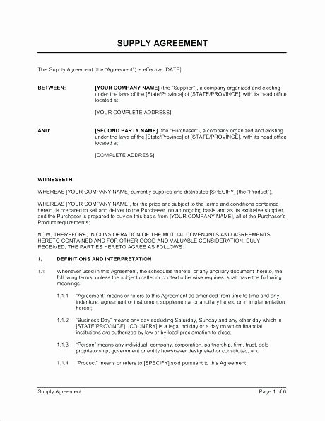 Simple Vendor Agreement Template Luxury Simple Vendor Agreement Template Sample Vendor Agreement