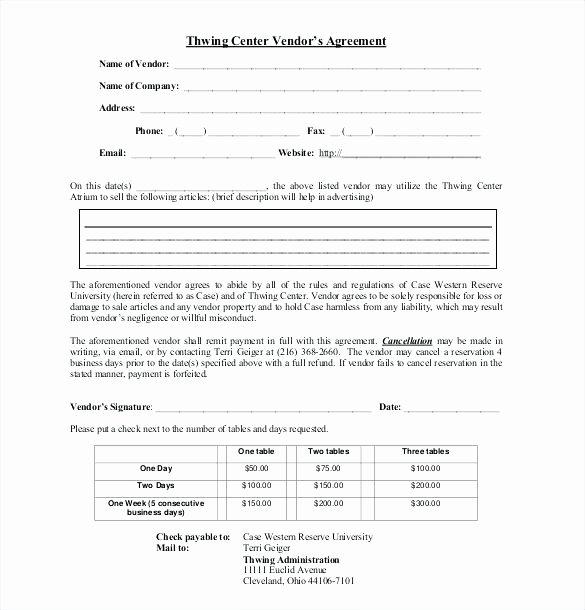 Simple Vendor Agreement Template New Simple Vendor Agreement Template Payroll Confidentiality