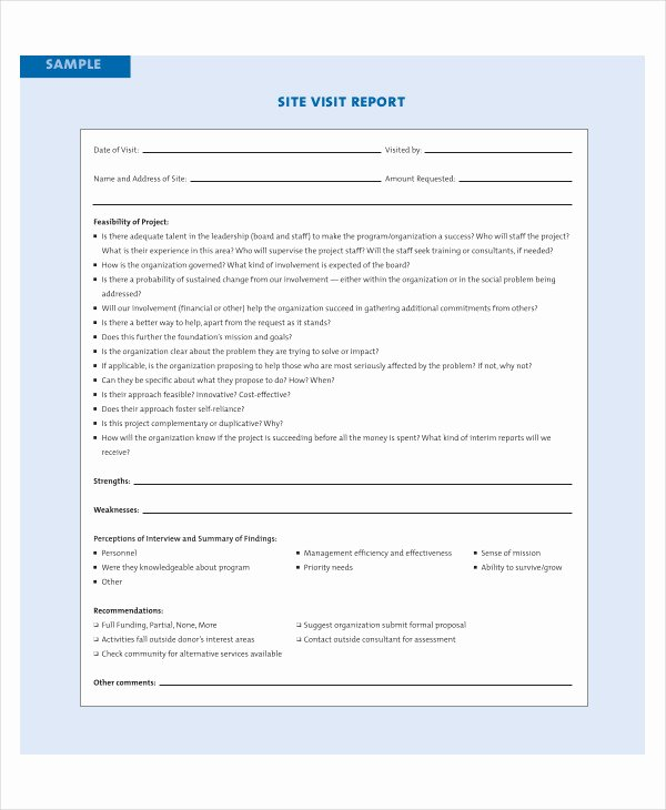 Site Visit Report Template Lovely 11 Visit Report Examples & Samples Pdf Doc