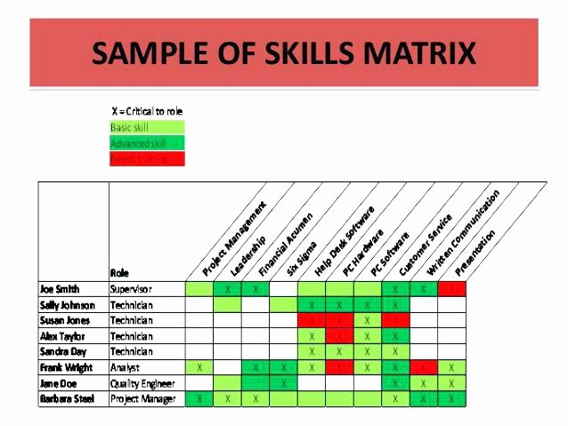 Skills Matrix Template Excel Elegant Skills Matrix Template Excel Training Skill format