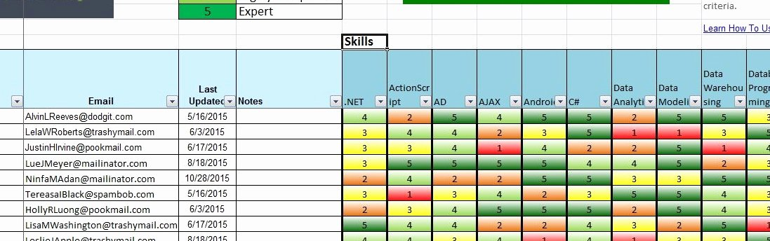 Skills Matrix Template Excel Inspirational Skills Db Pro Free Skills Matrix Spreads