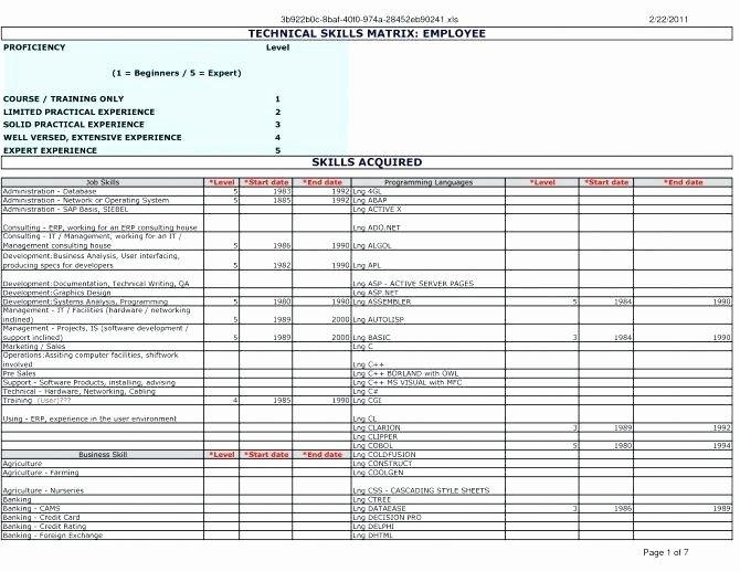 Skills Matrix Template Excel Lovely Skill Set Matrix Template Excel Gap Analysis Skills