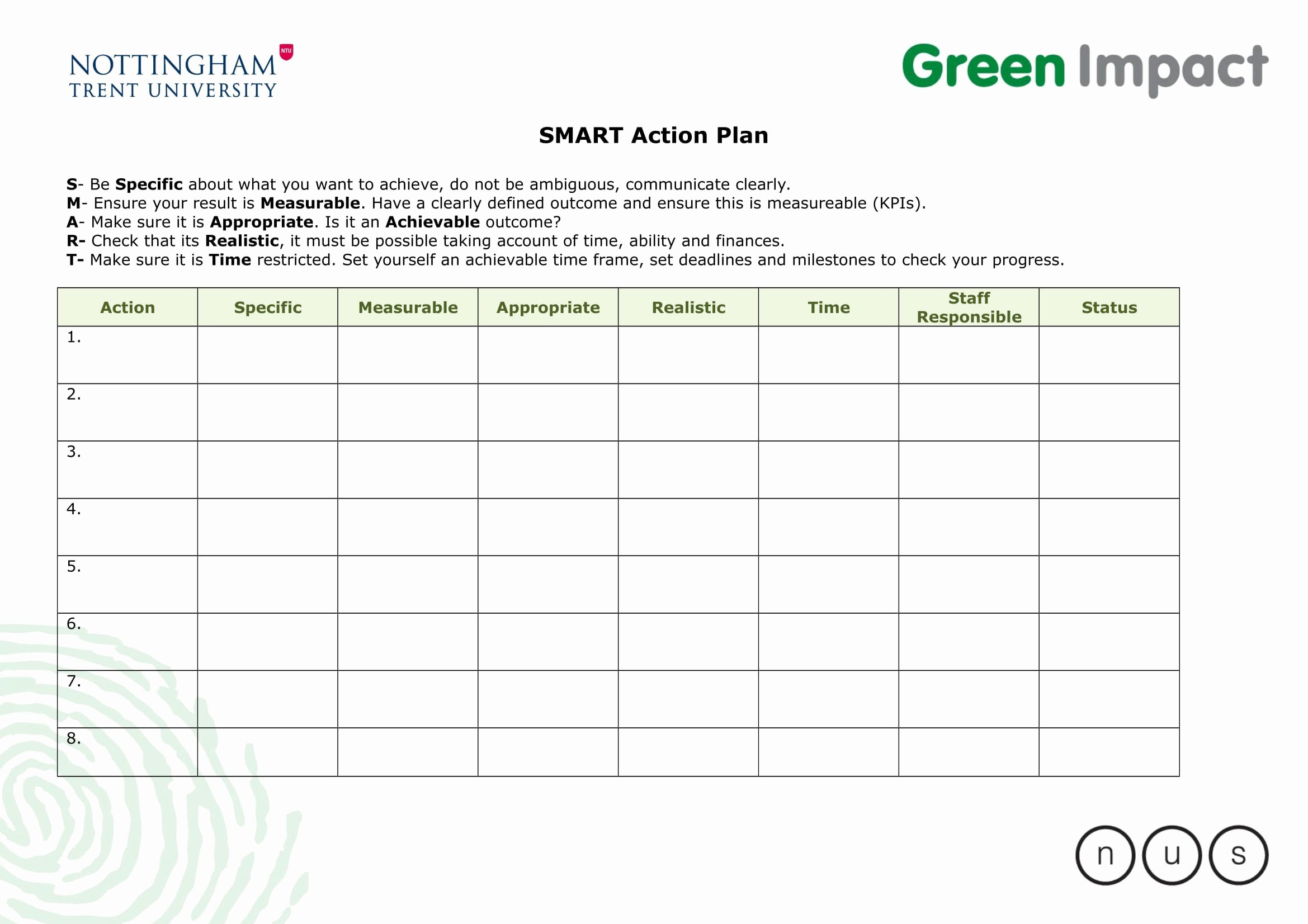 Smart Action Plans Template Inspirational 9 Smart Action Plan Examples Doc
