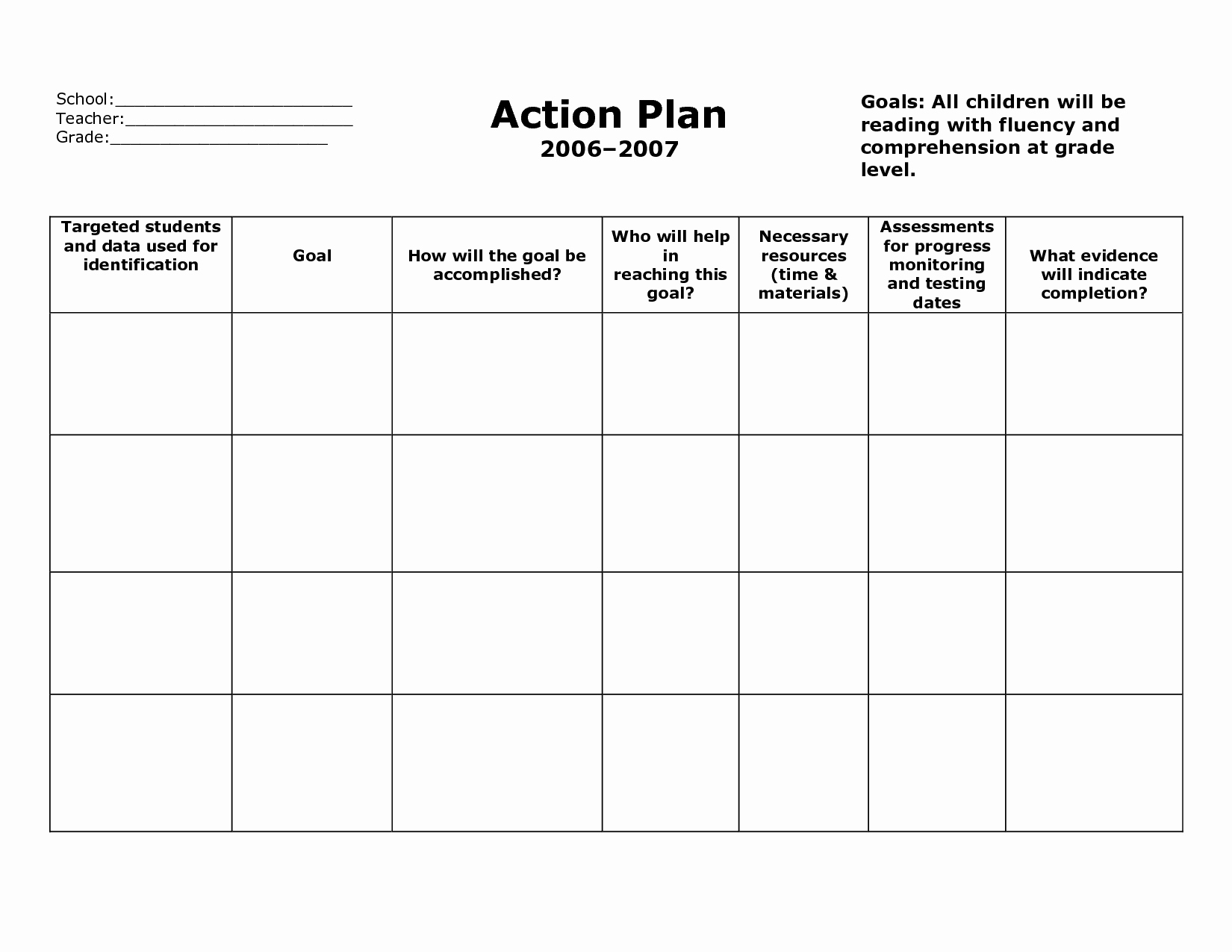 Smart Action Plans Template Inspirational Action Plan Template Action Plan format V5fclyv5