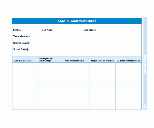 Smart Goal Template Pdf Elegant Smart Goals Template 15 Download Free Documents In Pdf