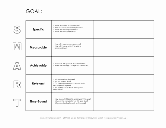 Smart Goal Template Pdf Inspirational Smart Goals Template