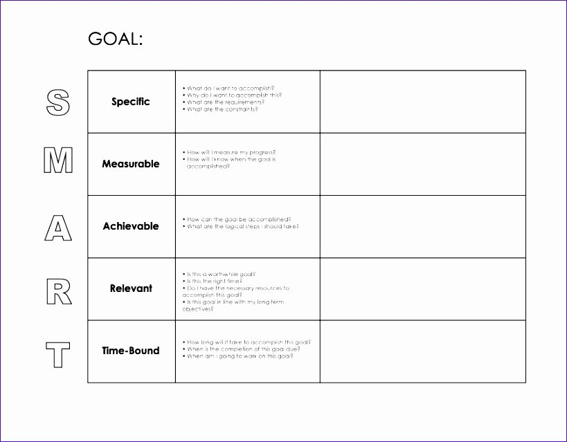 Smart Goal Template Pdf Unique 10 Smart Goals Template Excel Exceltemplates