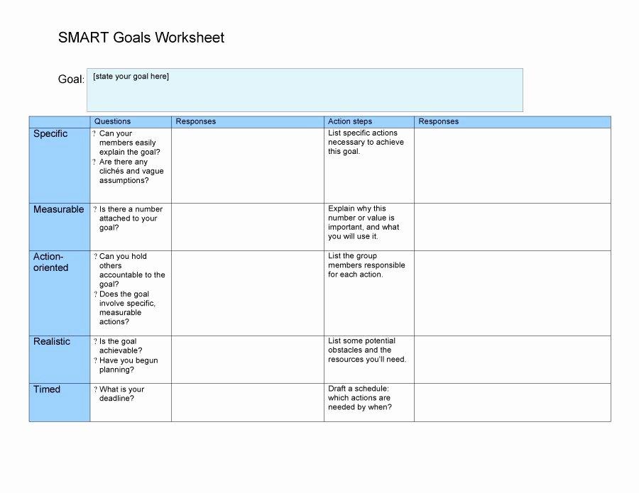 Smart Goals Template Excel Elegant 48 Smart Goals Templates Examples & Worksheets Free