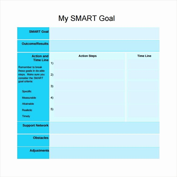 Smart Goals Template Excel Elegant Smart Goals Template 15 Download Free Documents In Pdf