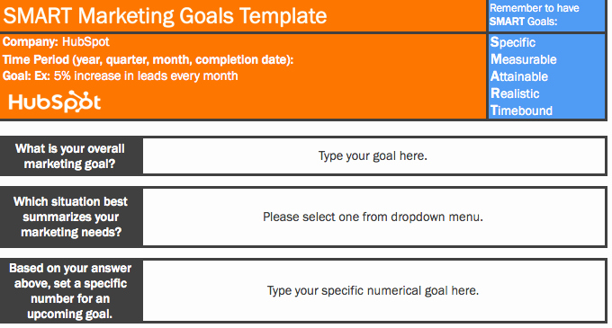 Smart Goals Template Excel Inspirational 11 Free Microsoft Excel Templates to Make Marketing Easier