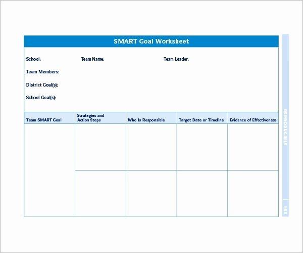 Smart Goals Template Excel Inspirational Smart Goals Template Excel