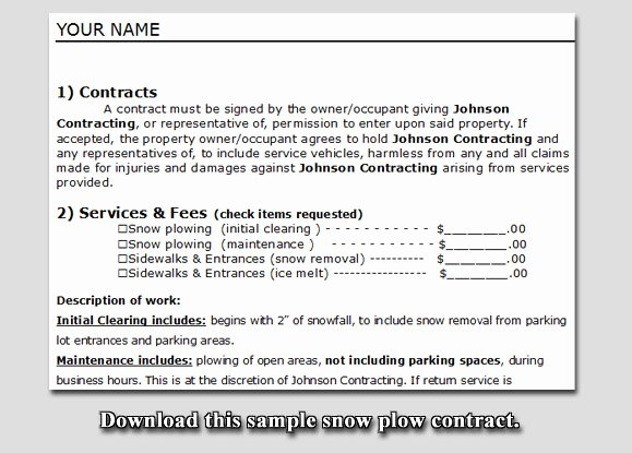 Snow Plow Contract Template Awesome Quotes About Business Contracts Quotesgram