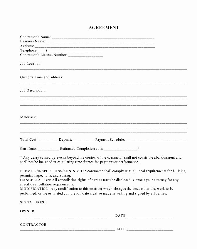 Snow Plow Contract Template New 14 Beautiful Mercial Landscape Maintenance Contract