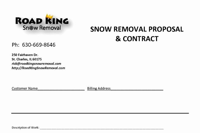 Snow Removal Bid Template Inspirational 20 Snow Plowing Contract Templates Free Download