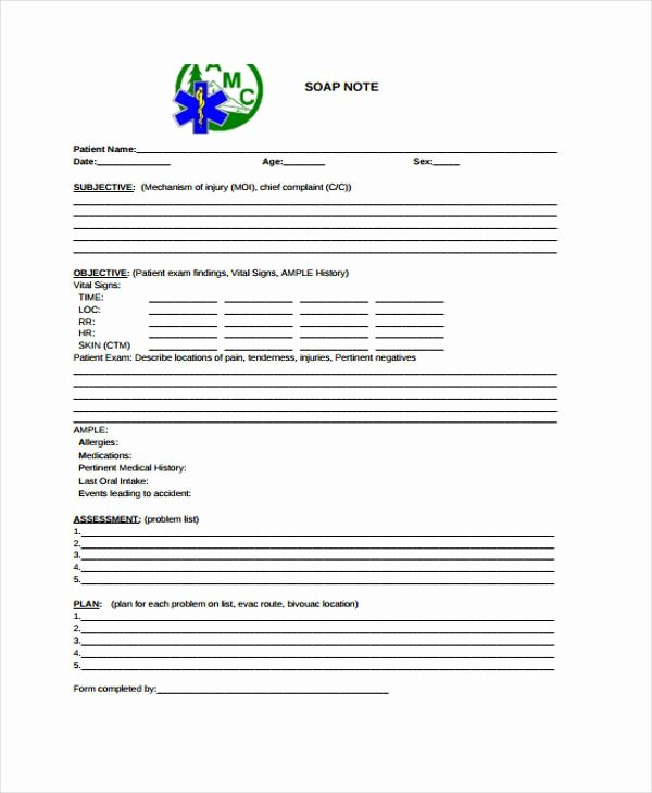 Soap Note Template Pdf Beautiful 28 Free Note Templates