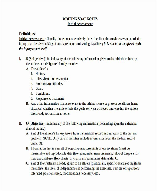 Soap Note Template Pdf Best Of 14 soap Note Examples Pdf