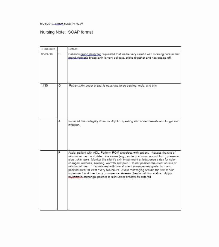 Soap Note Template Pdf Inspirational 40 Fantastic soap Note Examples & Templates Template Lab