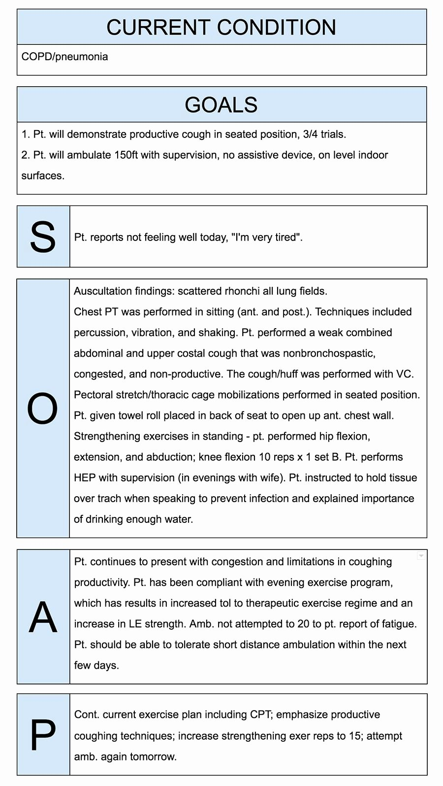 Soap Note Template Pdf Lovely Physical therapist soap Notes Example Quotes